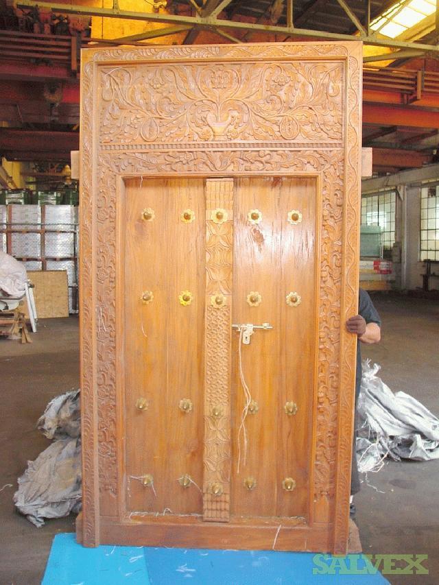 Two Large Zanzibar Doors & Two Large Zanzibar Doors | Salvex