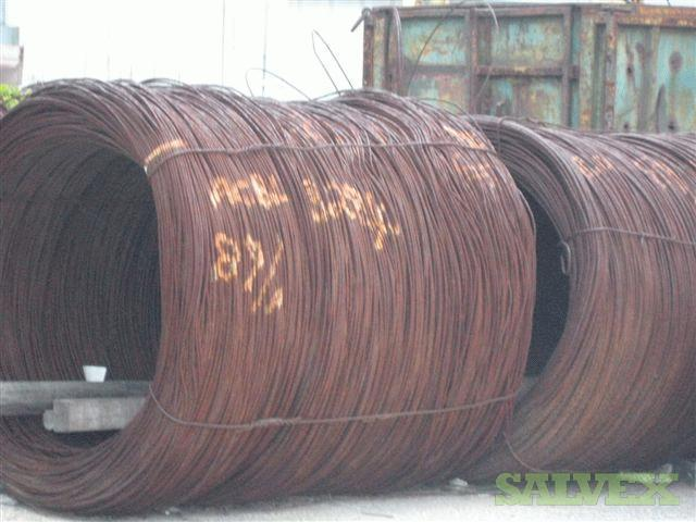 Cold Rolled Steel Wire Rod Coils 5.5, 4, and 7 mm.