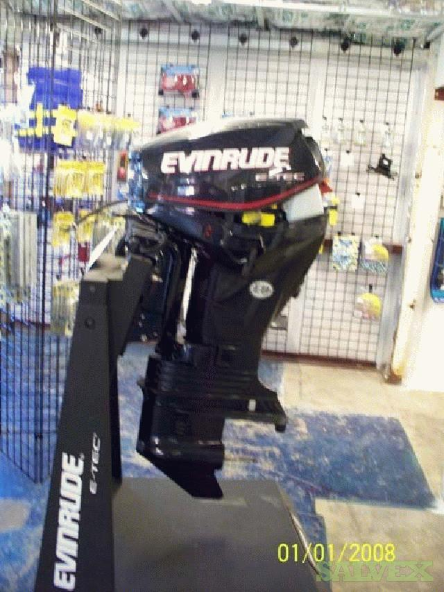 10 Outboard Motors, 1 Generator Set and 5 Motor Display Stands
