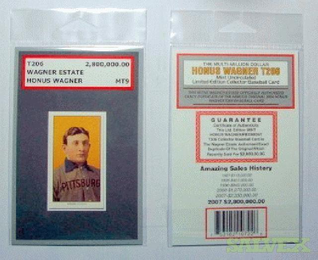 Honus Wagner T206 Replica Baseball Cards Salvex