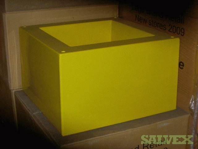 Crates, Yellow, Plastic