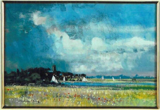 At Norfolk -  by Robert King - Gouache