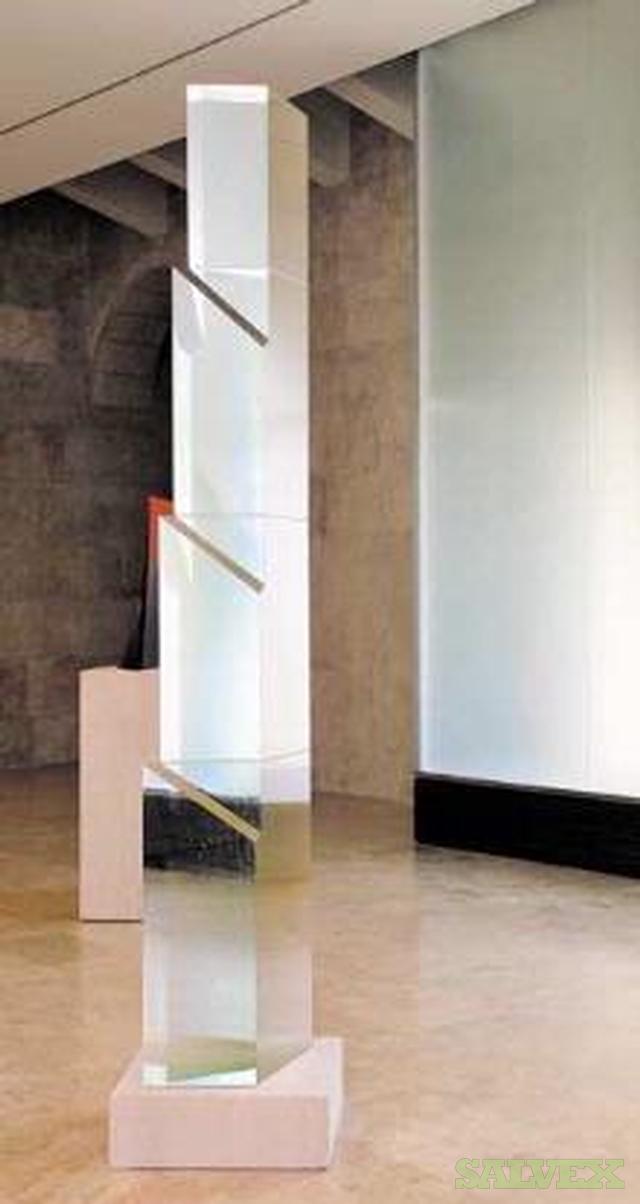Important Crystal Sculpture Victory Column Stanislav Libensky and Jaroslava Brychtova