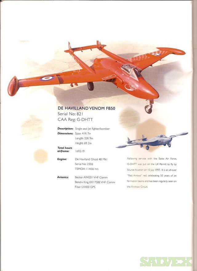 De Havilland Venom Jet S/N#:821 | Salvex