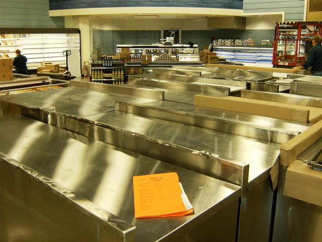 Stainless Steel Supermarket Equipment (Food Storage & Preparation)