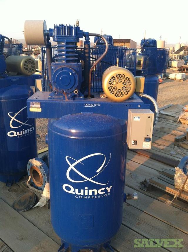 Compressors - 3 Quincy Tank Compressors