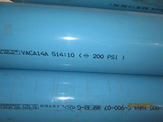 Blue Pvc Water Main Pipe 20 Ft Long 8 Quot C900 Dr 14 Cl