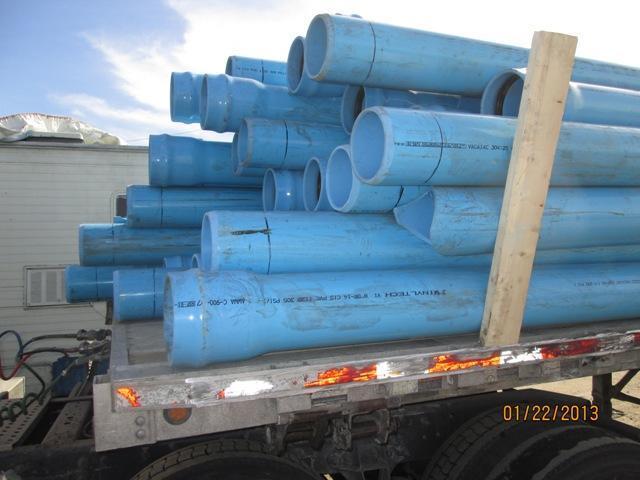 Blue PVC Water Main Pipe - 20 ft Long, 8 C900 DR 14 CL 305 (Qty 200 pcs)