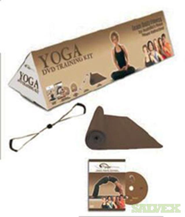 Pilates & Yoga Kits (with workout mat, stretch band, and workout DVD, CD and book) -- Brand New, Still Sealed (Qty 3300)