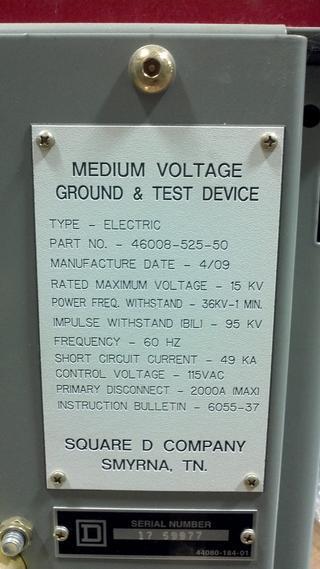 Medium Voltage Tester : Ground and test device medium voltage electrically