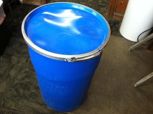 12 Gallon Blue Plastic Barrel HDPE 2 Food grade .