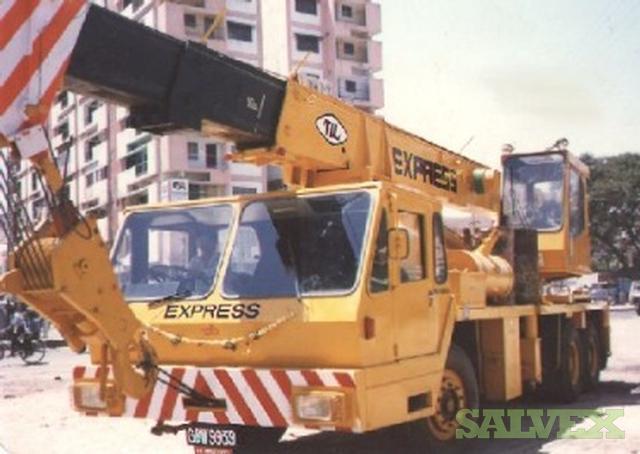 Mobile Crane Auctions Australia : Mobile crane telescopic boom coles hydra salvex