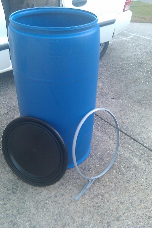 HDPE 77 Gallon Open Top Plastic Barrels - 260  Units