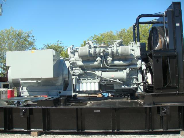 Generator Set-Detroit Engine, 1500KW, Model#16E-7316, 12,470 volts