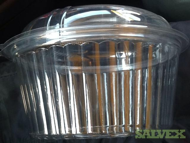 Clear PET Food 'To Go' Bowls with Lids (40,000 Units)