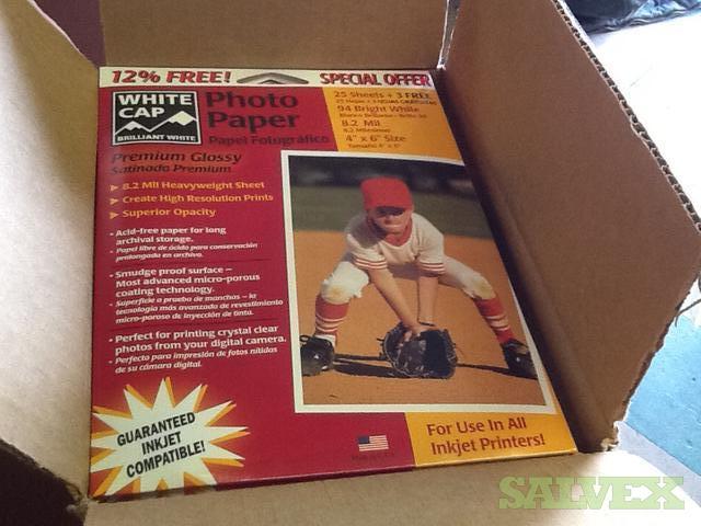 Inkjet Photo Paper White Glossy (1000 Packs)