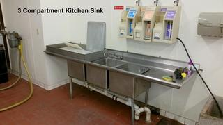 Kitchen Sink And Dispenser 3 Compartment Salvex