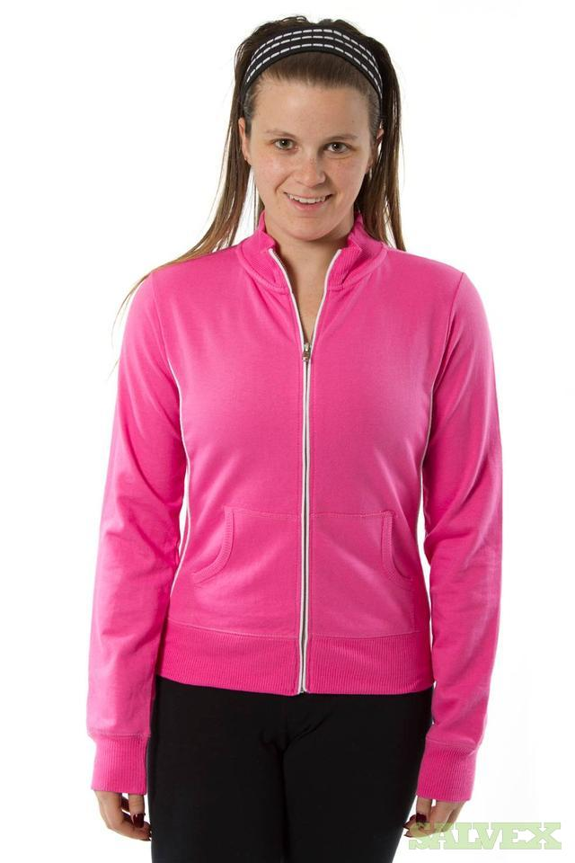 Assorted Colors of Ladies Mock Neck French Terry Jackets (11,800 Pieces)