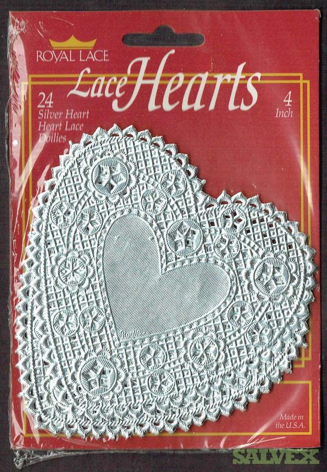 Paper Lace Heart Doilies (75,600 Units)