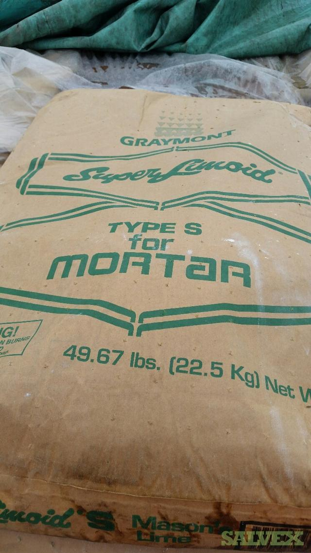 Graymont Dolomitic Hydrated Lime - Type S for Mortar (45,000 Lbs / 900 Bags)