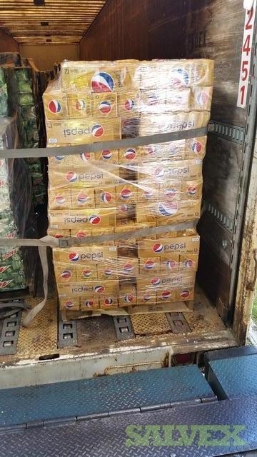 Pepsi Cola Canned Beverages 22 Pallets Salvex