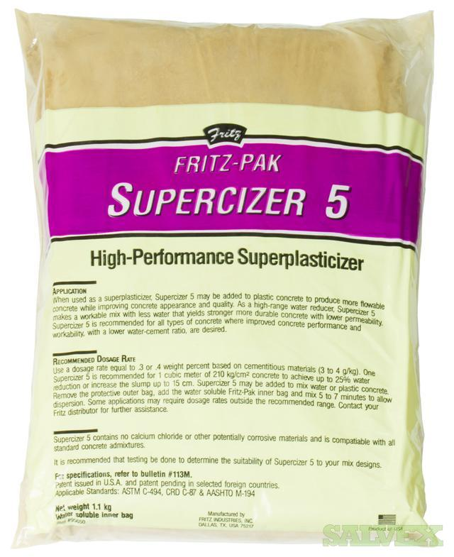 Fritz-Pak Supercizer 5 Superplasticizer - for Concrete (4000 Bags)