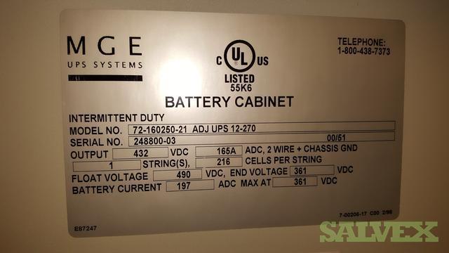 UPS 12-270FR, 50kva- 2001 & Battery Cabinets