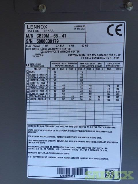 Lennox Industrial Air Conditioning System Parts 155