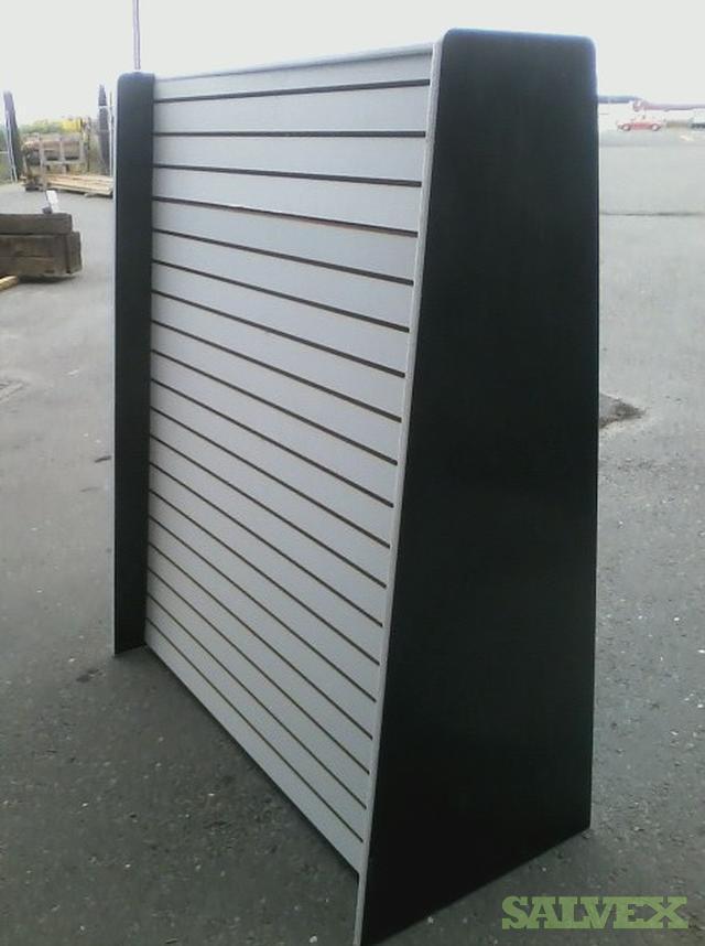 Portable Slatwall 50 Wide x 60 Tall x 24 Deep, 2 Sided Gondola Units