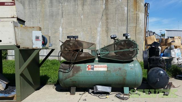 Compressors, Plastic Grinder, Band Saws and Press (7 Units)