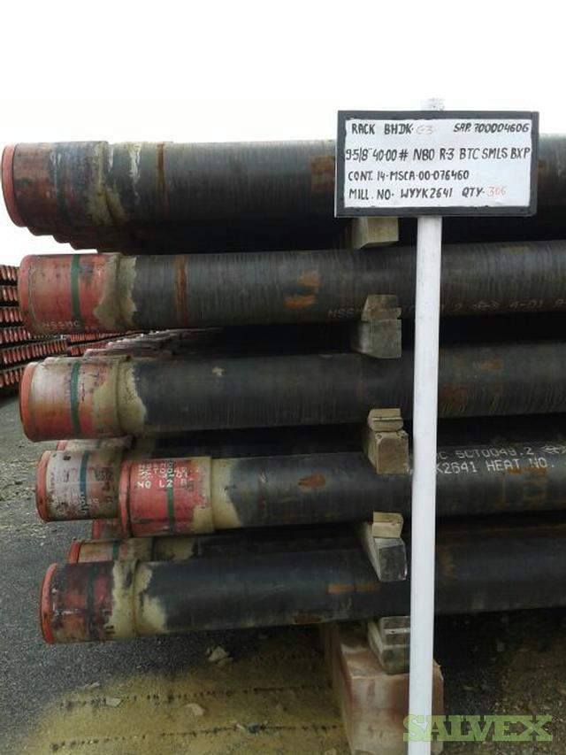 9 5/8 40# N80Q BTC R3 Surplus Casing (55,800 Feet / 1,012 Metric Tons)