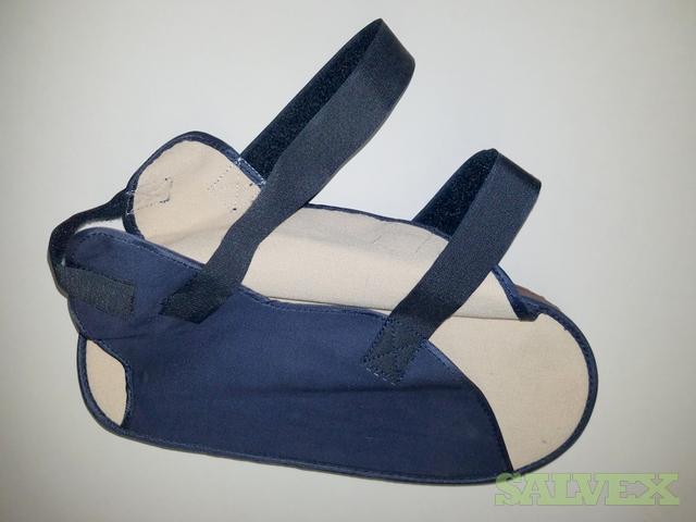 Open Toe Canvas Cast Boots