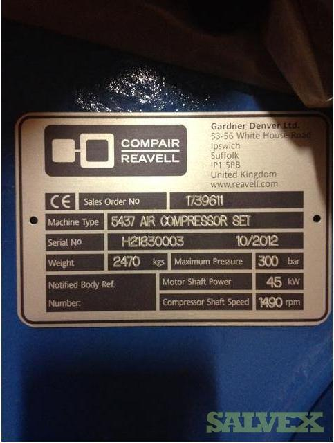CompAir 5437 Air Compressor Packages (3 units)