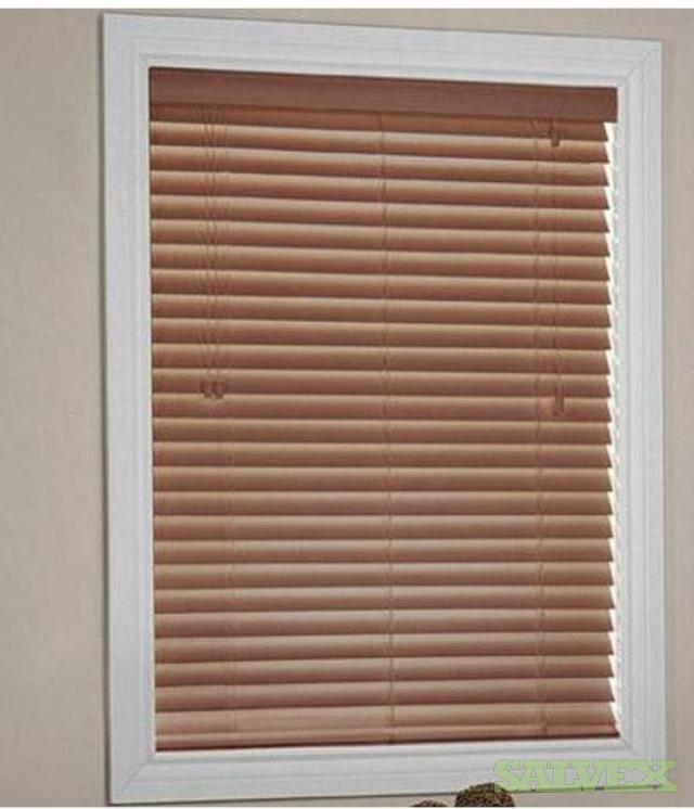 Frontier's Reflection Oak Faux Wood Blinds (Size 60x64/ 300 Pieces)