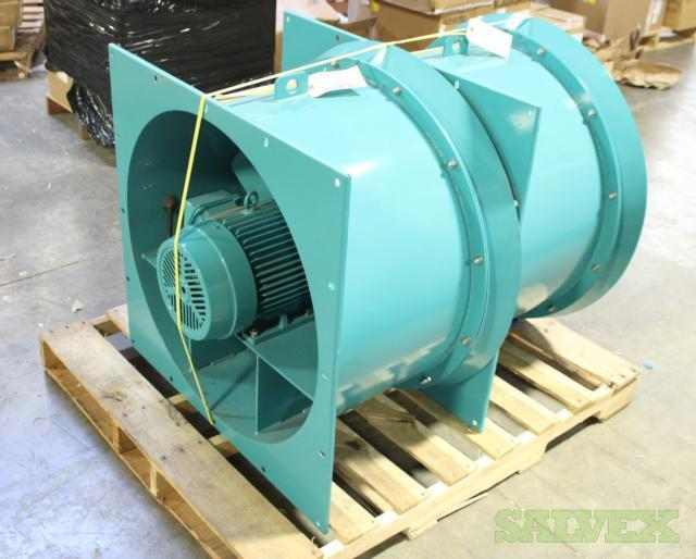 Teralkurita Axial Blower Fans with Toshiba 3 Phase Induction Motors - Used in Air Filtration (4 Fans)