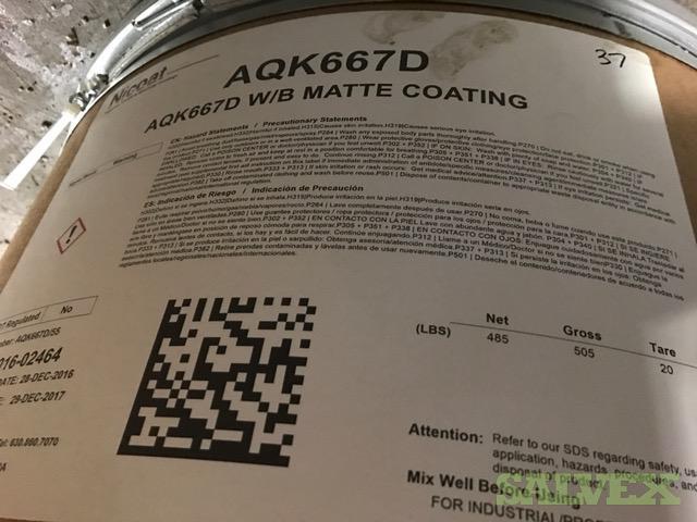 Nicoat AQK667D W/B Matte Coating (485 Lbs)