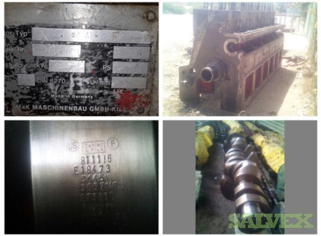 Crankshaft, Block, Bedplate- used parts for MAK 6M453AK Generator Set