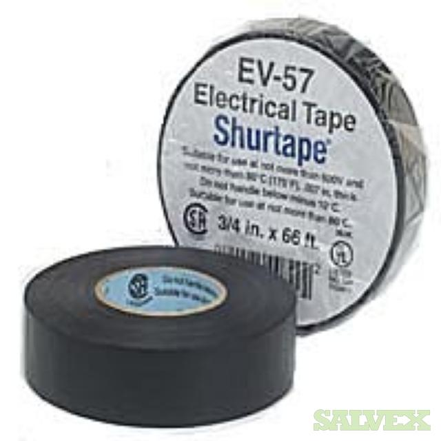 Black Electrical Tape 0.75 x 22 yds 7mil