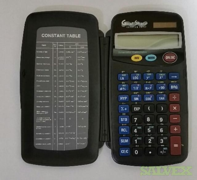 Scientific Calculator With Solar Batteries (11,568 Units)