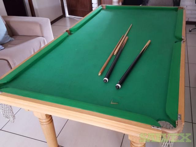 Oak Pool Table & Dining Table
