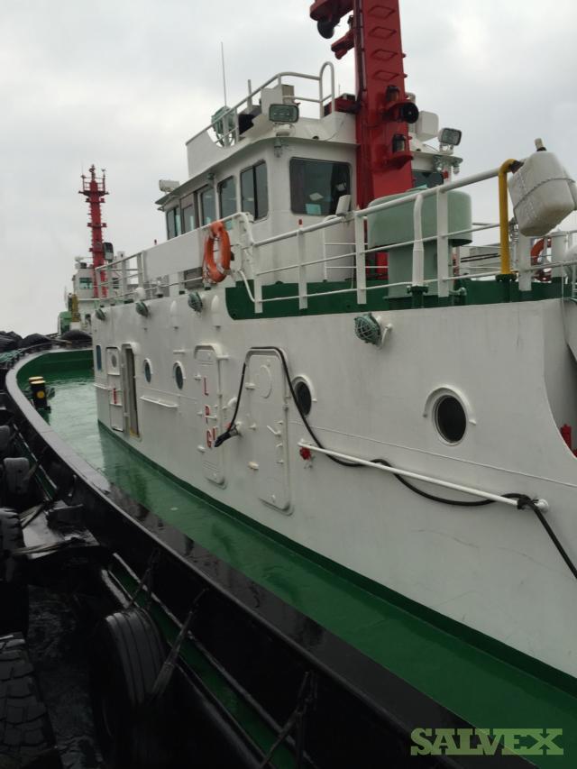 Army Tug Engine Room: 1994 Korea Tugboat With CAT 1465HP X 2 (2930HP) Engine