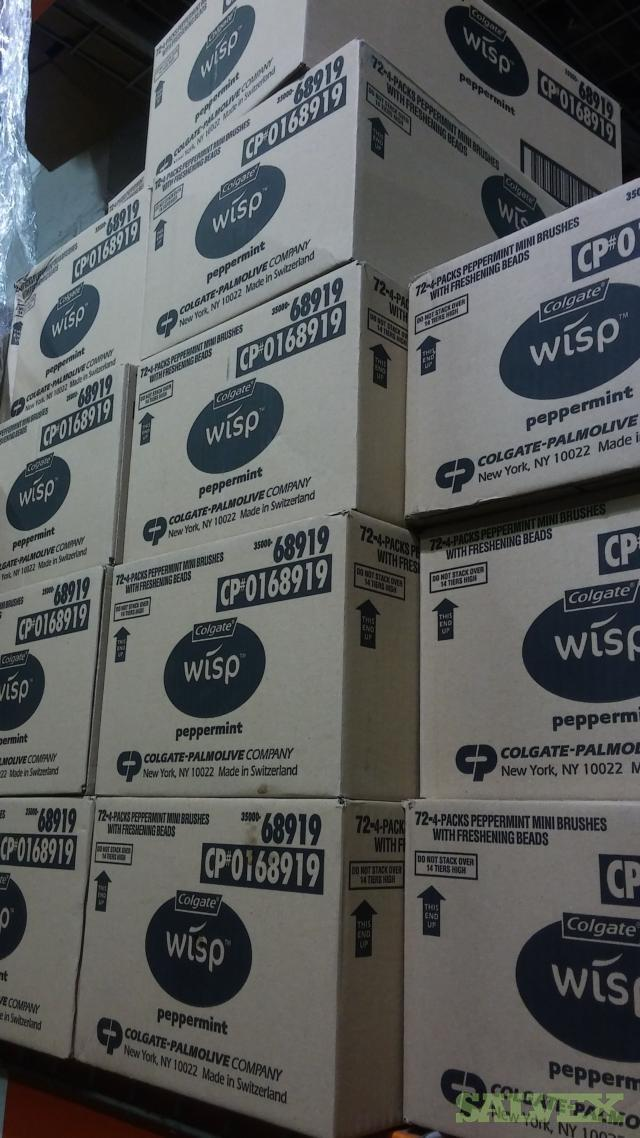 Colgate Wisp Mini-Brush, Arm & Hammer liquid Laundry Detergent & Cottonelle Fresh Care