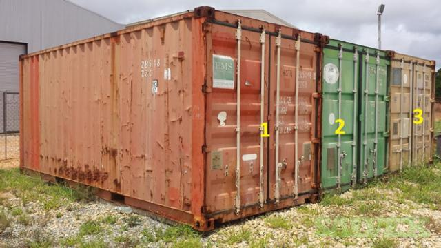 Shipping Containers 2 x 20ft, 1 x 40ft (3 Units)
