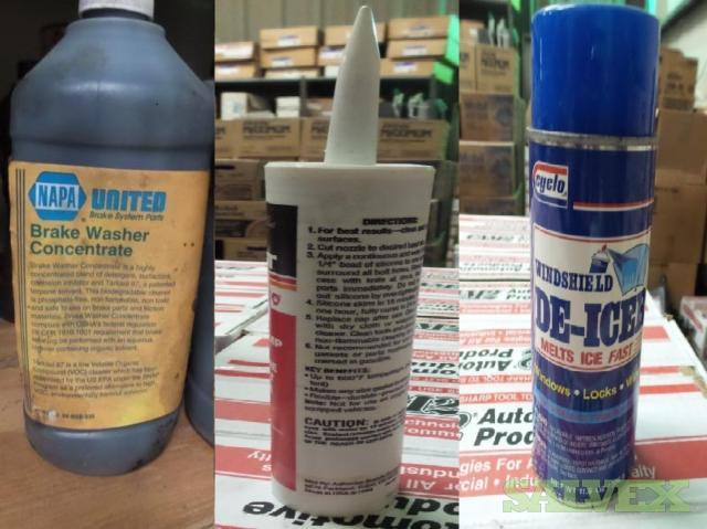 Cyclo Windshield De-Icer , NAPA United Bake Washer Concentrate and Trust High-Temp RTV Silicone Gasket Maker (58 Units)