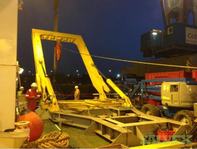 Gann Mek Hydraulic Driven A-Frame Crane (36 Ton Capacity)