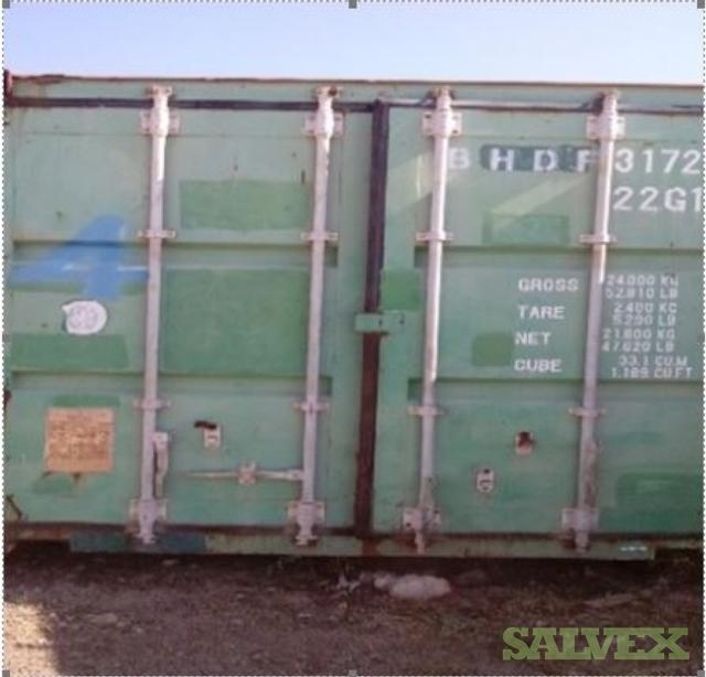 Shipping Containers [20 ft - 8 Units; 40 ft- 3 units]