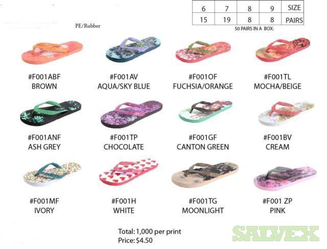 Assorted Flip Flops (20,000 Pairs)