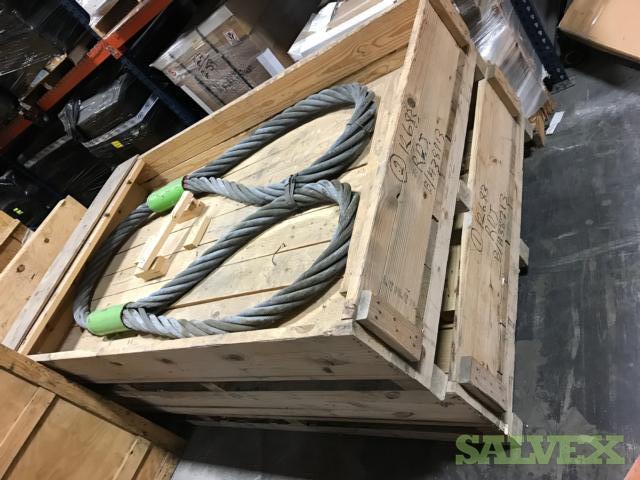 Large Metal Link Slings for Crane Lifting and Elevator Frames
