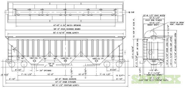 Covered Hopper Train Cars  22 Units
