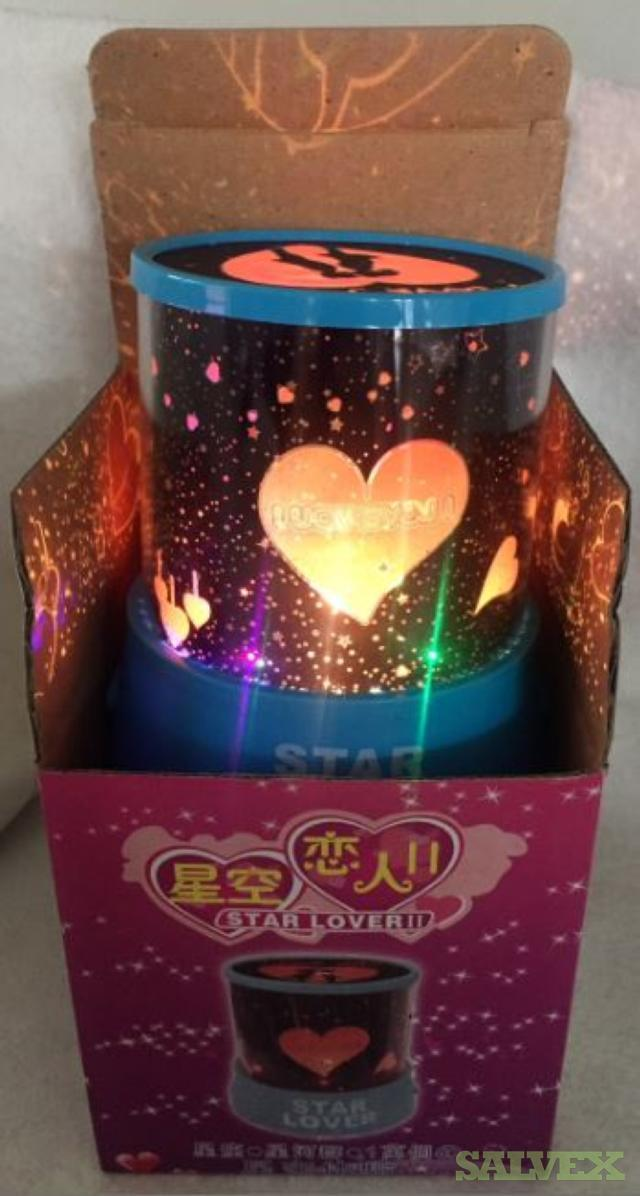 Battery Operated Lamp Hearts and Stars